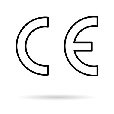 CE mark symbol for conformite europeenne, clean label product, information vector illustration sign . icon