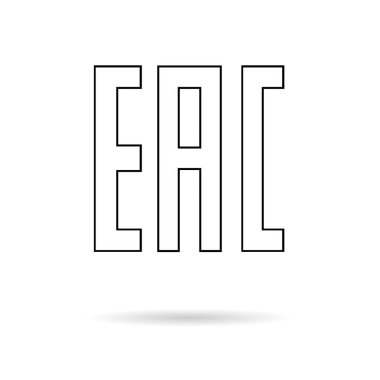 EAC sign, single icon product mark package. Euroasion symbol isolated on white background. Control information illustration . icon