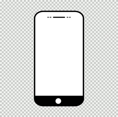 Smart mobil phone mock up, Smartphone technology template, modern blank telephnone, realistic vector illustration . icon