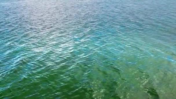 Zpomalený pohyb moře vodní plochy jako pozadí