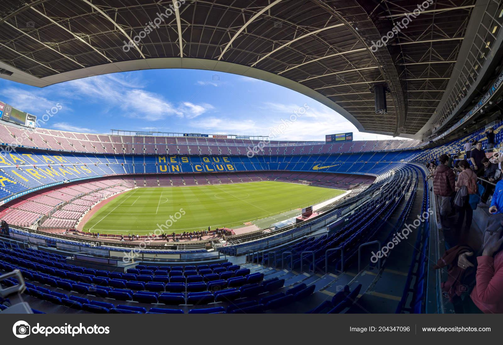 Barcelona Espanha Fevereiro 2017 Vista Panorâmica Camp Nou Estádio ... c315a3c1cdf8a