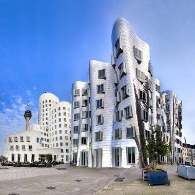 Modern futuristic looking buildings in Dusseldorf, Germany