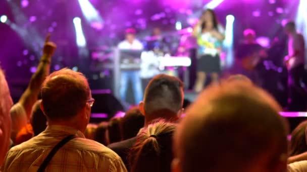 Publikum si koncert. Veřejný koncert, žádná jízdenek událost
