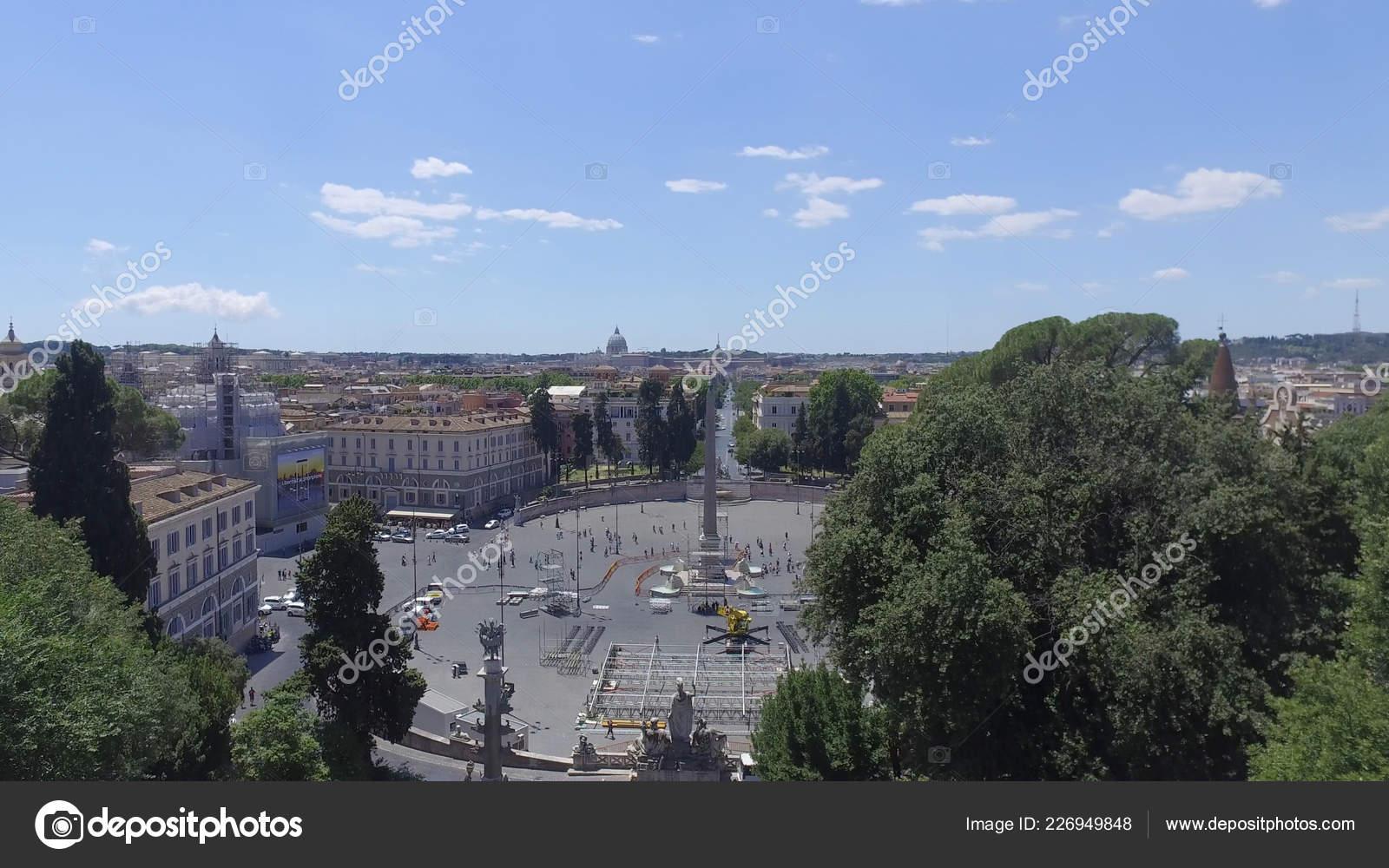 Panoramic View Park Park Villa Borghese Terrazza Del Pincio