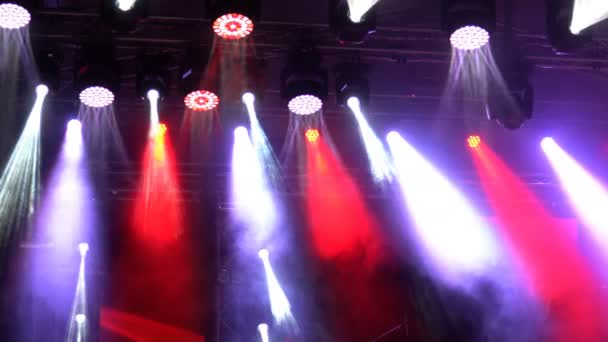 Concert light show, colorful and vivid stage spotlight on stage background