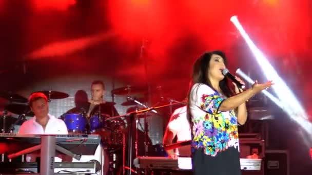 Dragana Mirkovic srbská hvězda na veřejnosti žádné jízdenek koncertní události v Bansko náměstí v Bansko