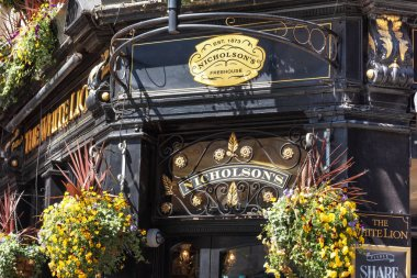 London, UK - May 14, 2019: Typical English pub at Covent Garden district.