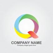 Absztrakt levél Q Logo Design. Üzleti ikon-vektoros illusztráció