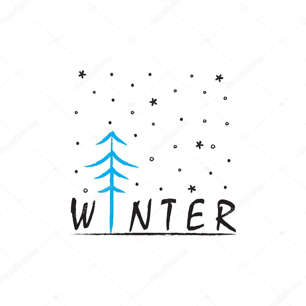 Winter Doodle Vector illustration