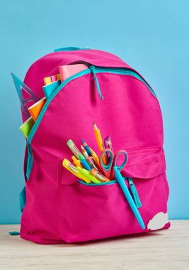 A briefcase with a bright stationery for the student