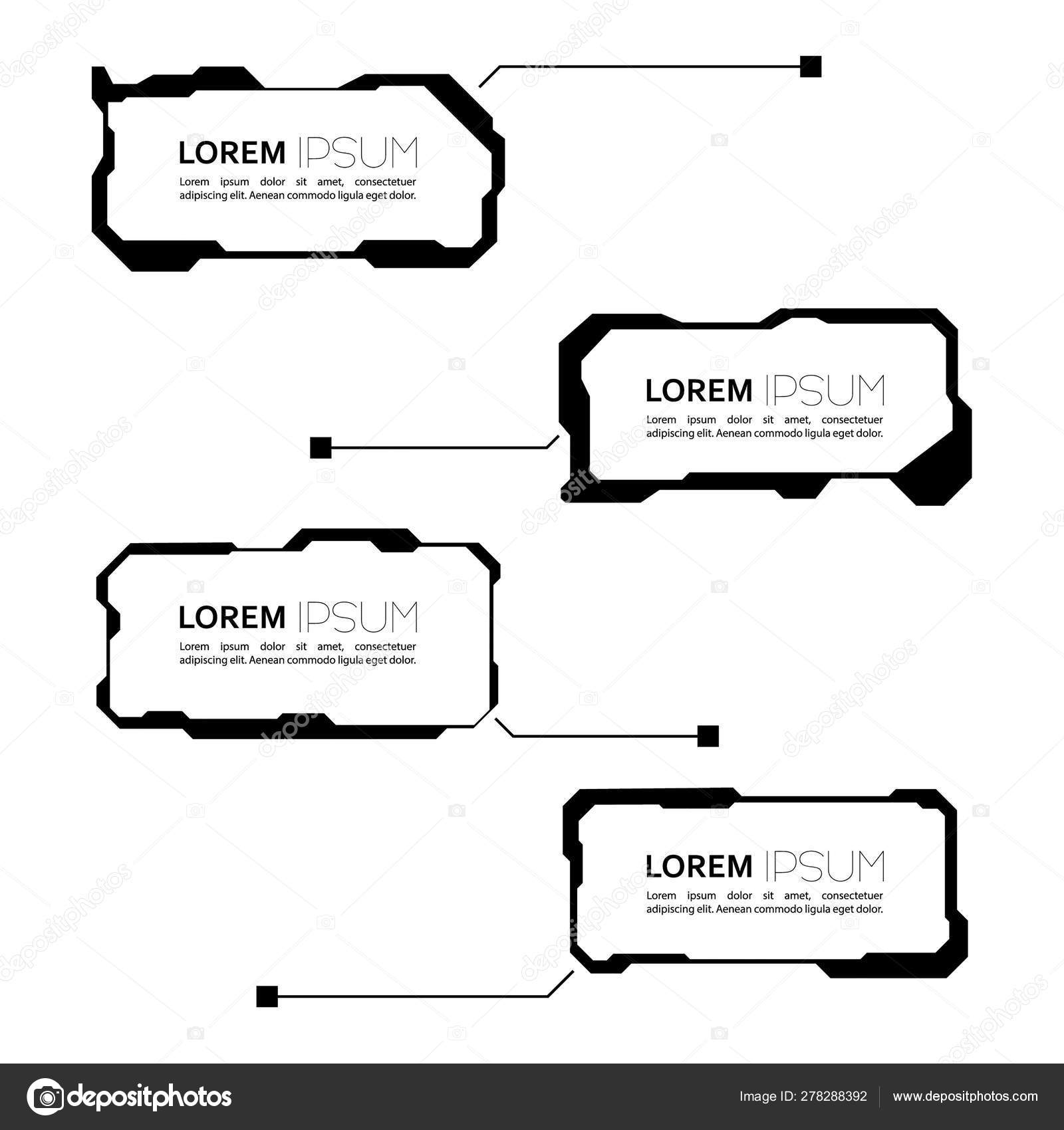set of hud futuristic frame stock vector c sumkinn 278288392 set of hud futuristic frame stock vector c sumkinn 278288392
