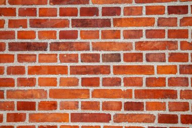 Full frame of empty brick wall background stock vector