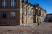 Fotografie Prázdný čtvereček s krásné Amalienborg palác a street svítilnami, Kodaň, Dánsko