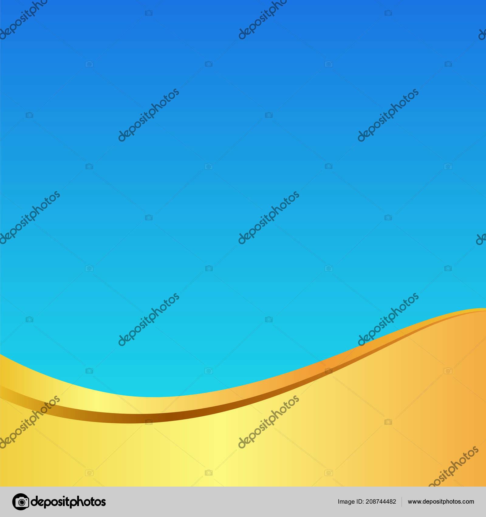 Gold Golden Wave Elegant Light Blue Background Pattern Card Poster