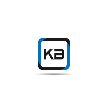 Initial Letter KB Logo Template Design