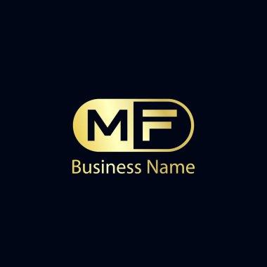 Initial Letter MF Logo Template Design