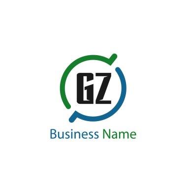Initial Letter GZ Logo Template Design