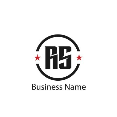 Initial Letter RS Logo Template Design
