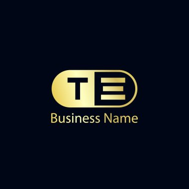 Initial Letter TE Logo Template Design