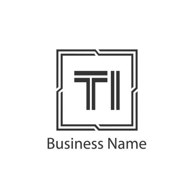 Initial Letter TI Logo Template Design