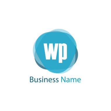 Initial Letter WP Logo Template Design