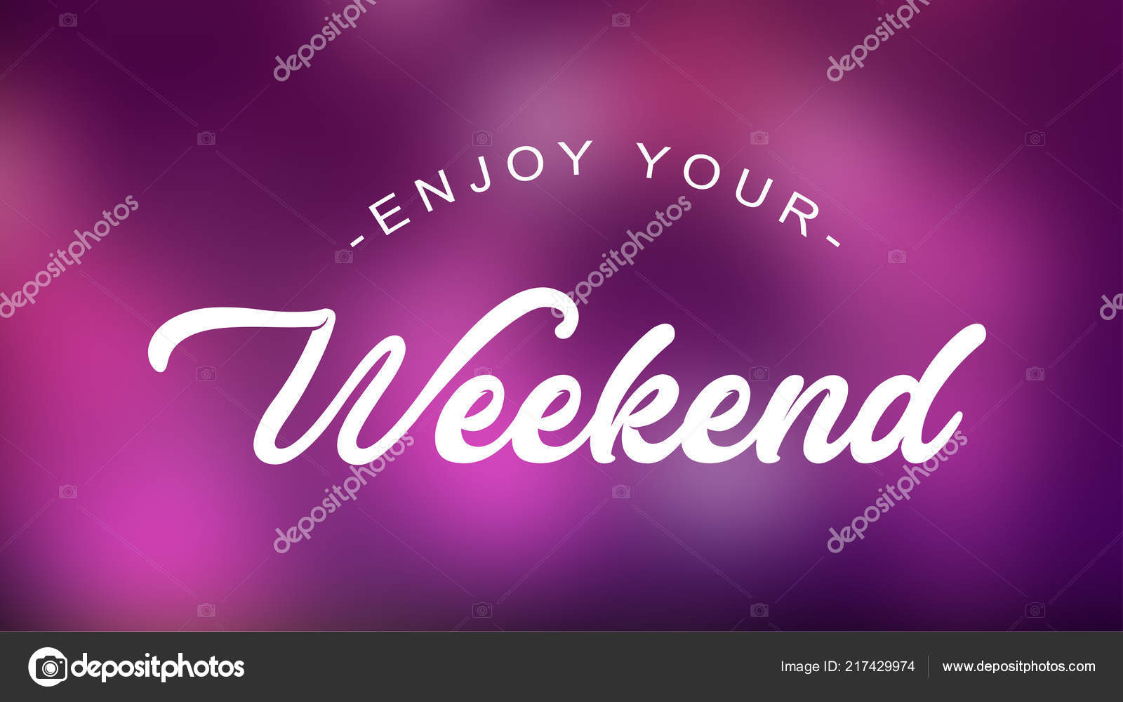 Enjoy Your Weekend Quote Elegant Background Stock Vector