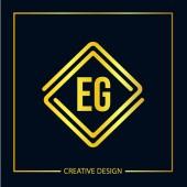 Kezdeti pl. levél logó sablon Design