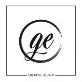 Ge kezdőbetűje logó sablon Design