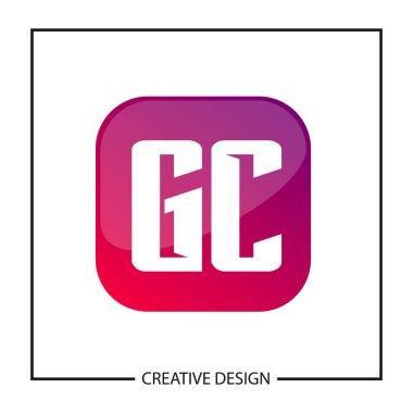 Initial GC Letter Logo Template Design
