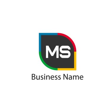 Initial Letter MS Logo Template Design