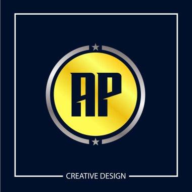 Initial Letter AP Logo Template Design Vector Illustration