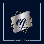 Eredeti levél pl. logó sablon Design vektor illusztráció