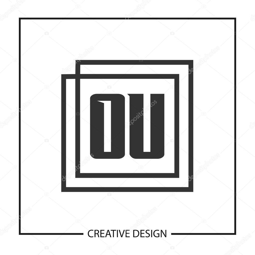 Initial Ou Letter Logo Template Design Premium Vector In Adobe Illustrator Ai Ai Format Encapsulated Postscript Eps Eps Format