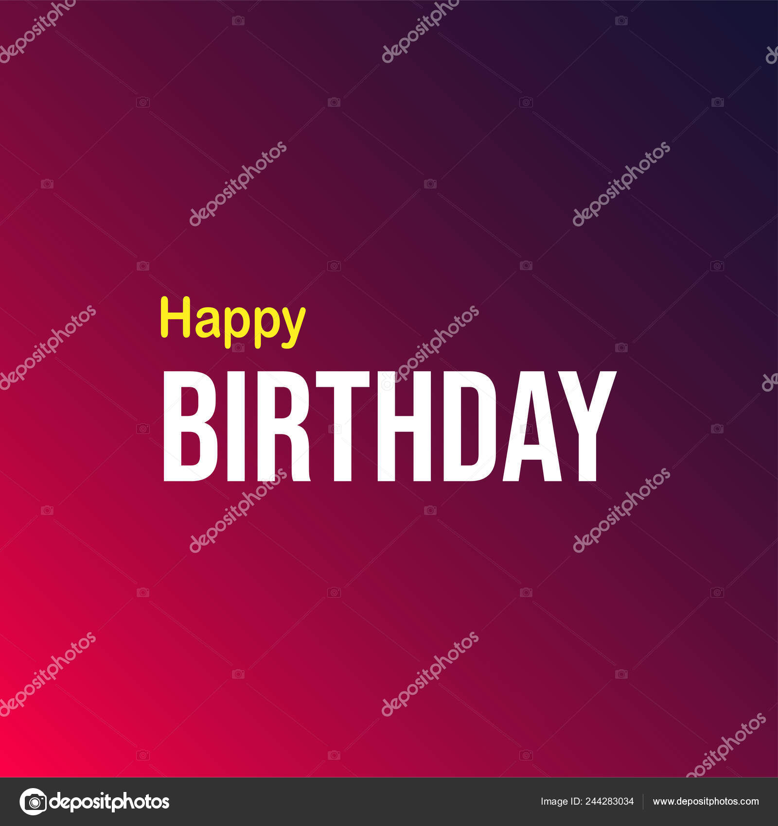 Happy Birthday Life Quote Modern Background Vector