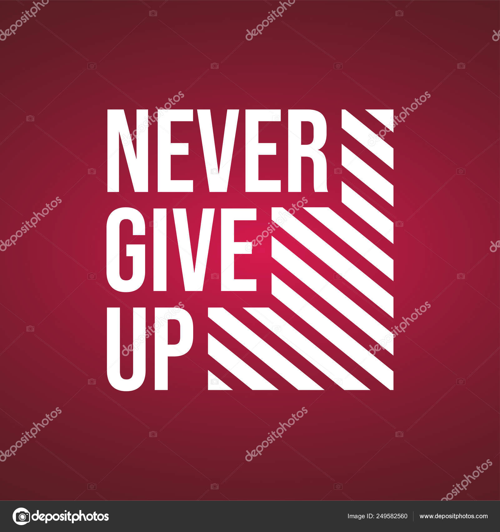 Never give up Life quote with modern background vector