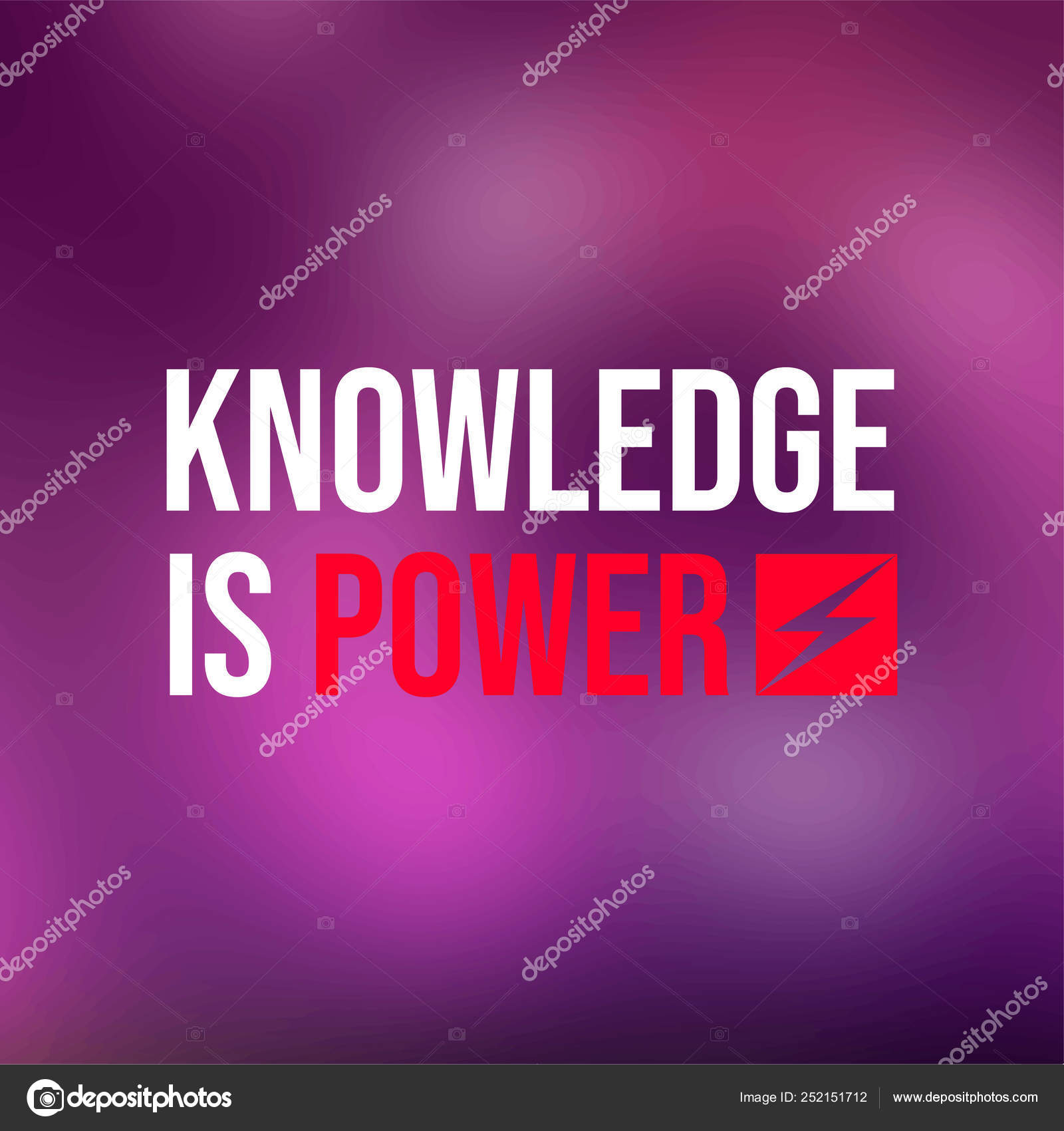 Knowledge Is Power Life Quote With Modern Background Vector Stock Vector C Mohammad Muhtadi14 Gmail Com 252151712