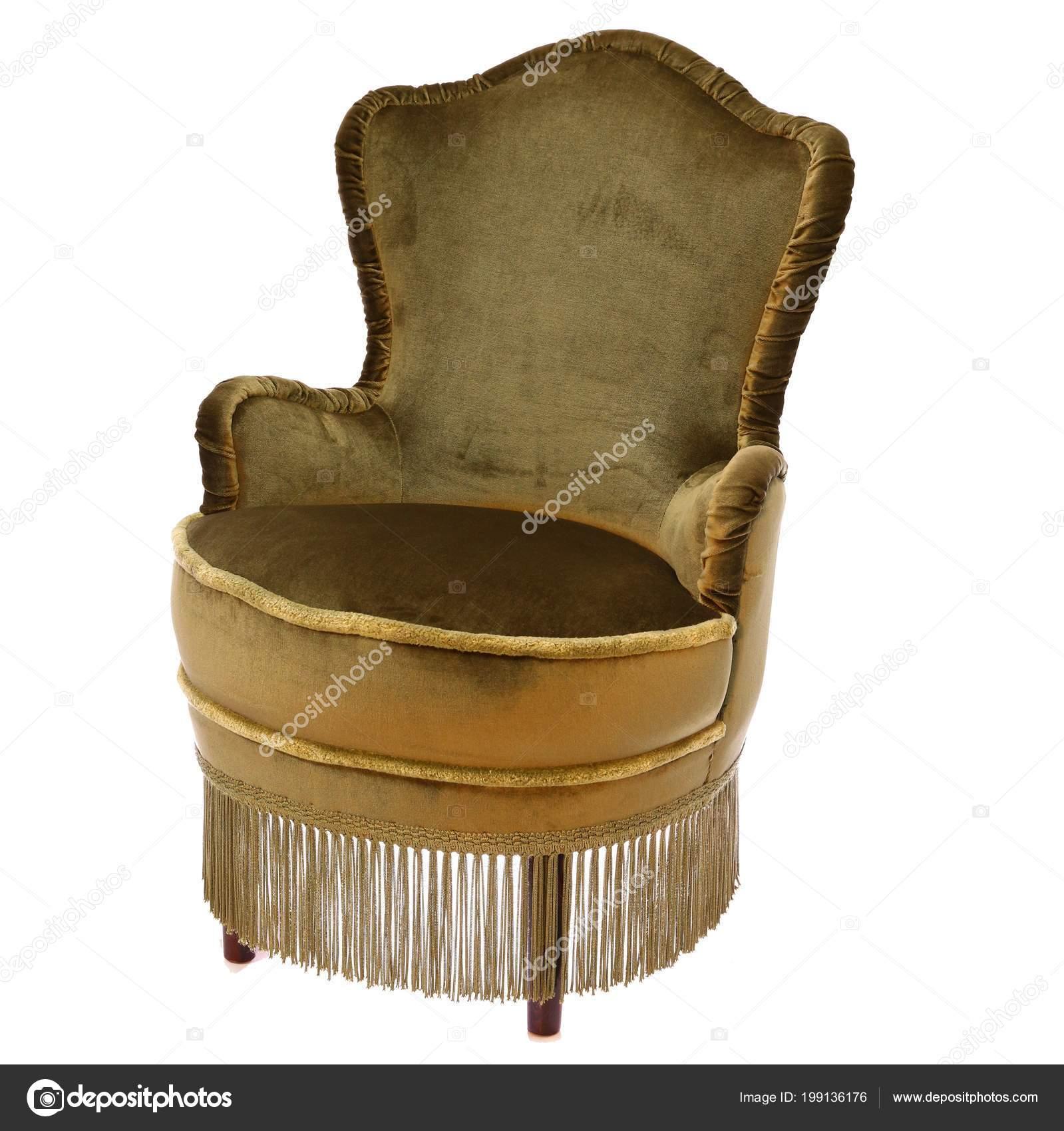 Sessel Samt Stoff Antik Klassisch Rund Stuhl Stockfoto C Urilei