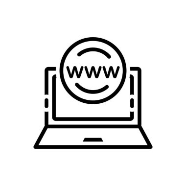 Black line Icon for application browser
