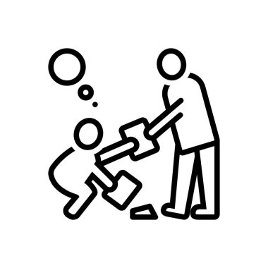 Black line Icon for decency respect