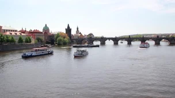 Karlův most přes Vltavu v Praha Česká republika