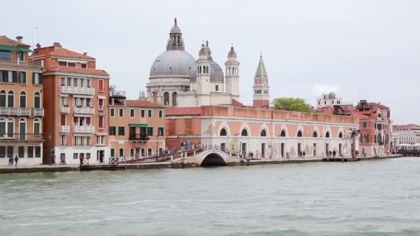 Panoramablick auf Venedig vom Boot aus, Italien