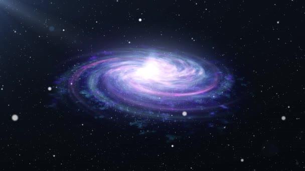 Barevné vesmírné mlhoviny částice na 4k záběru prostor částice fialové Bule Animace mlhoviny Animační prostor
