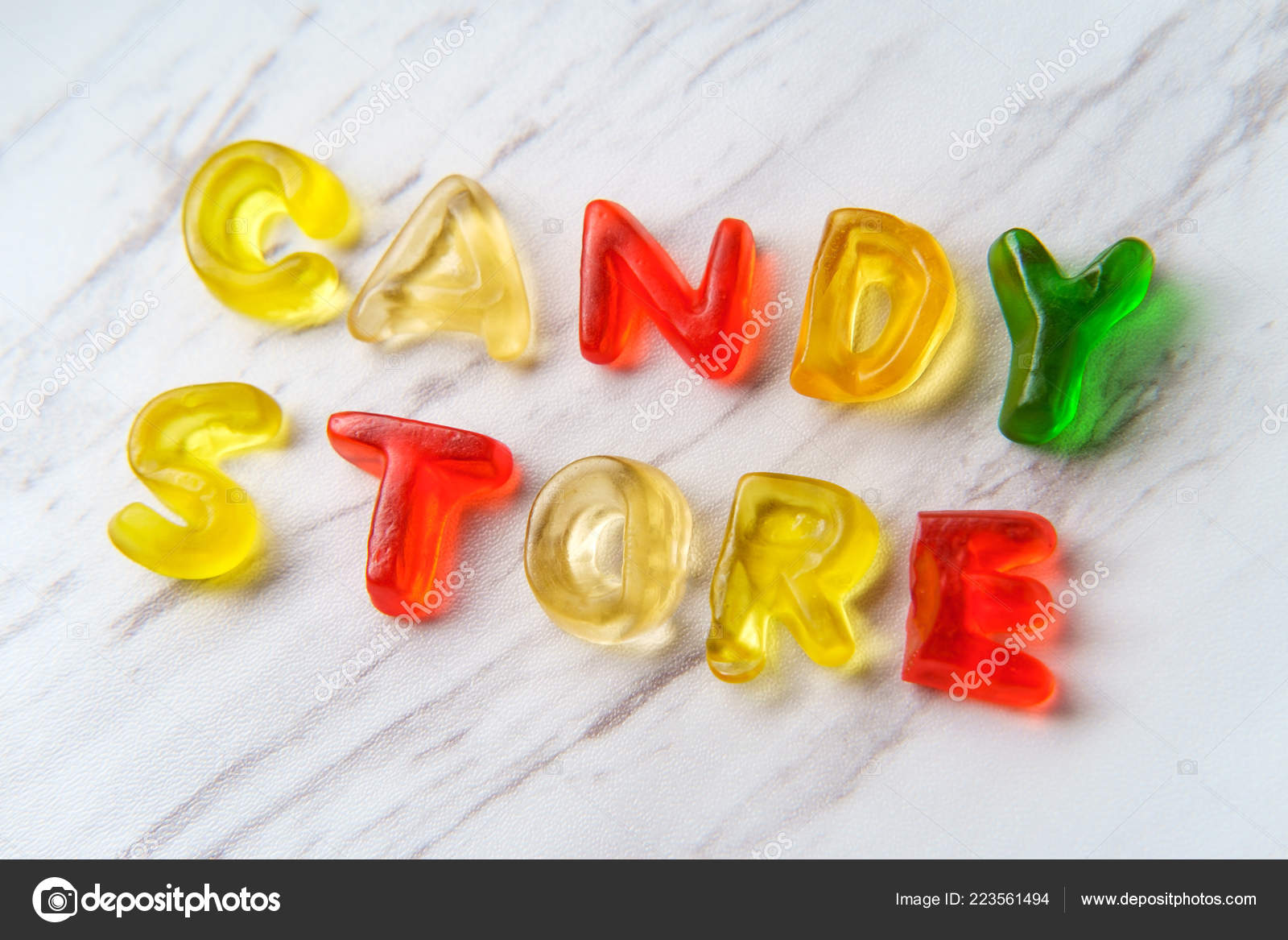 Assorted Colorful Gummy Candy Letters Spell Words Candy Store