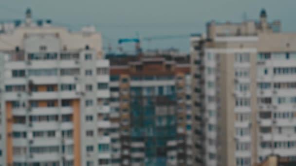 sokemeletes lakóépületek, homályos panoráma