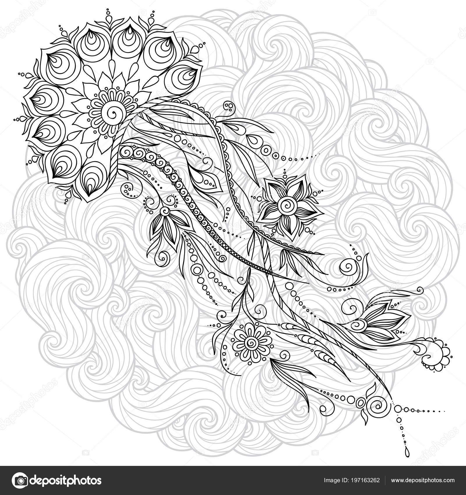Muster Für Malbuch Buch Malvorlagen Für Kinder Und Erwachsene