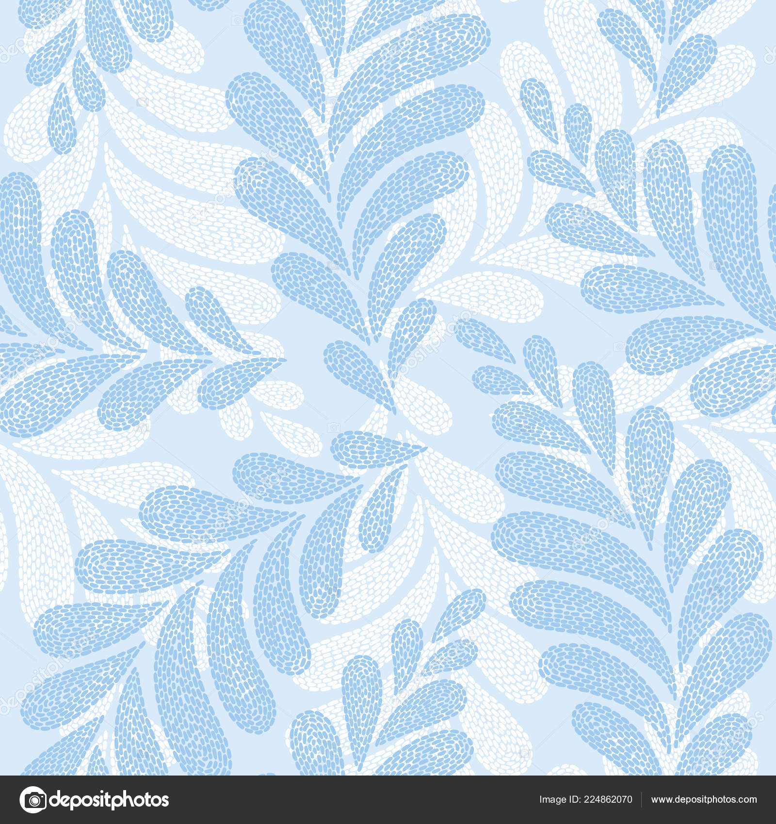 Vintage Embroidery Floral Fabric Texture Simple Seamless Background