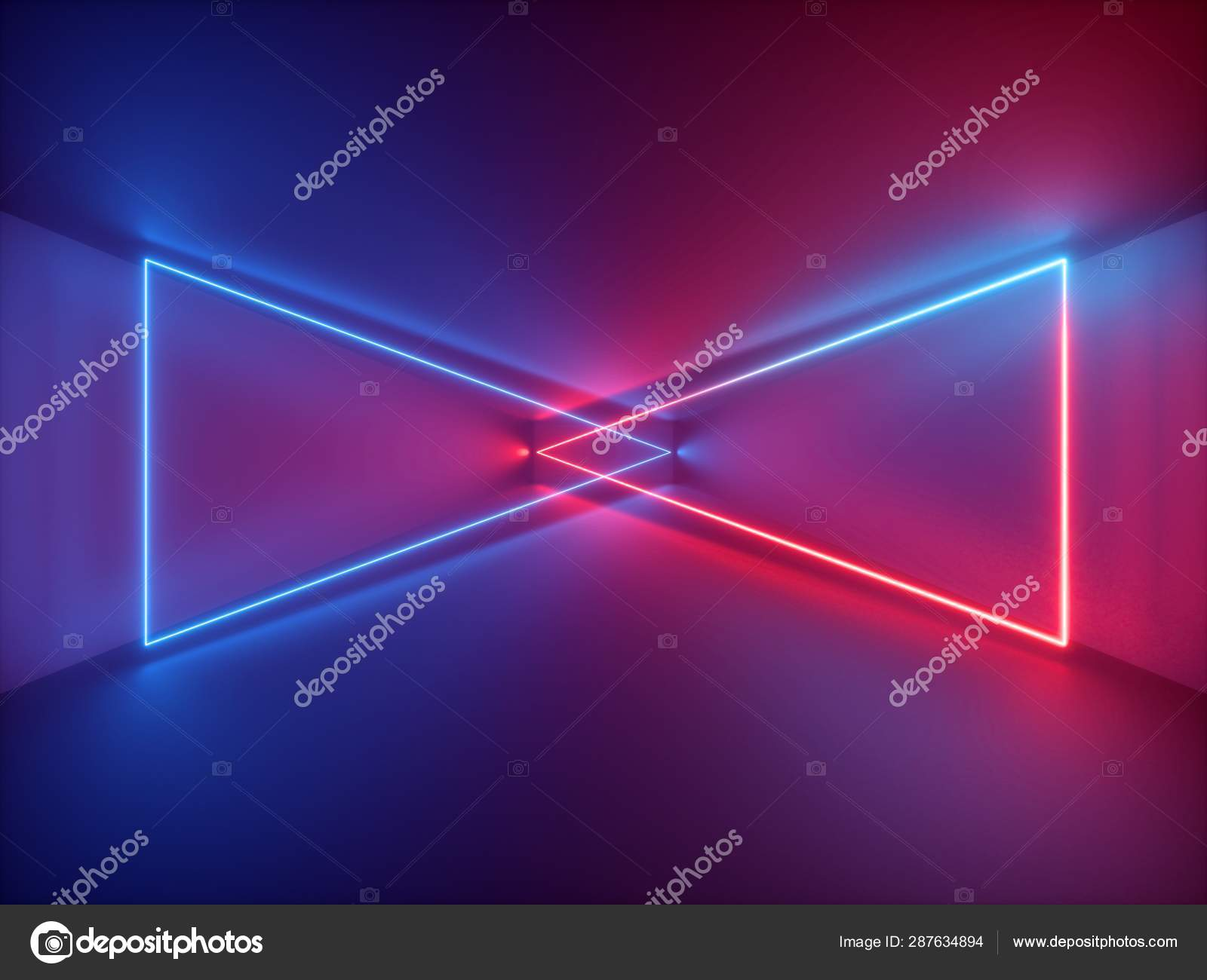 Tremendous 3D Render Red Blue Neon Light Abstract Background With Download Free Architecture Designs Scobabritishbridgeorg