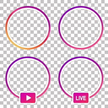 Instagram stories icon. Instagram stories vector.Instagram stories illustration. circle colorful gradient vector