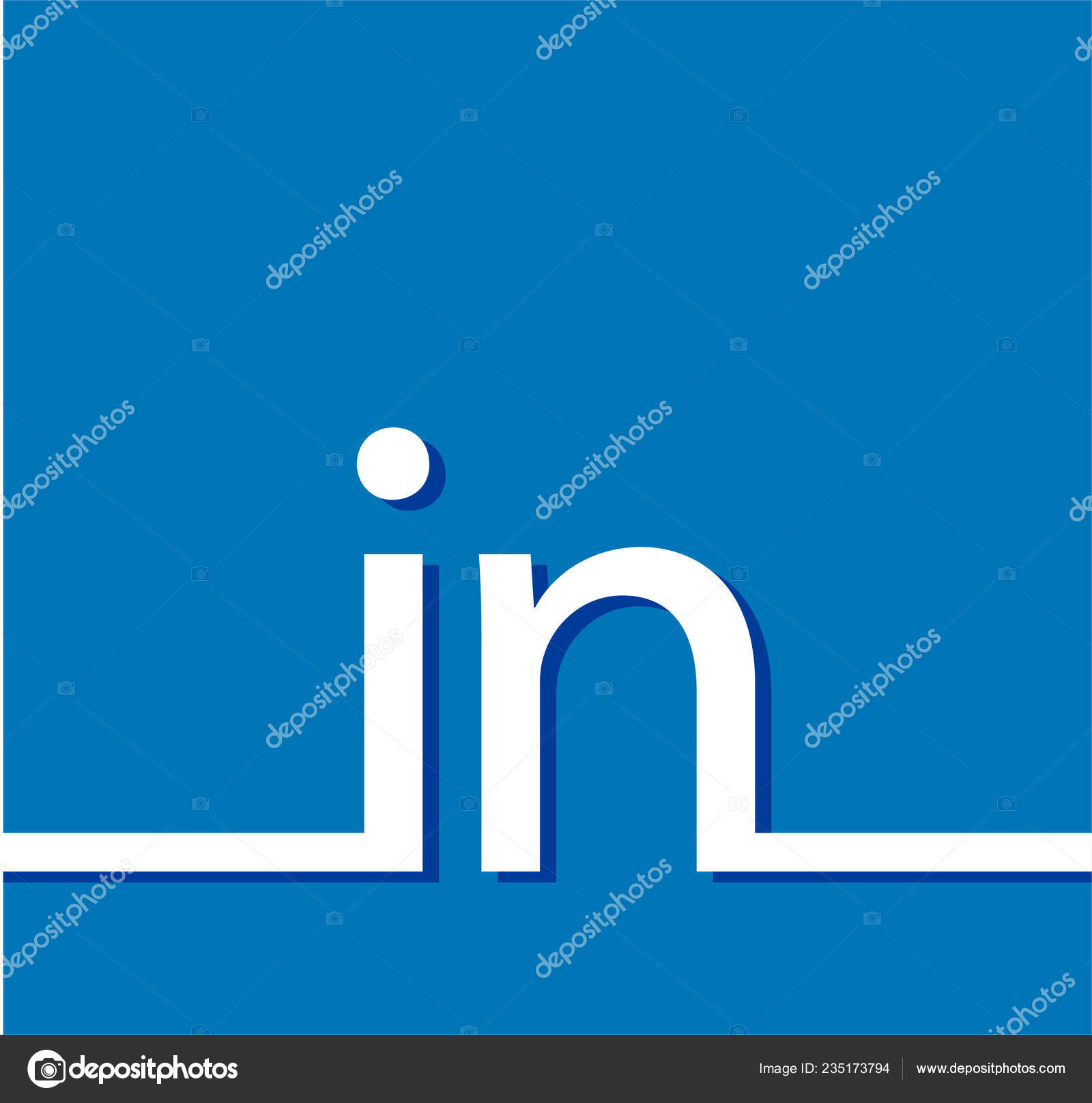 Blue Vector Background Linkedin Blue Vector Icon Linkedin