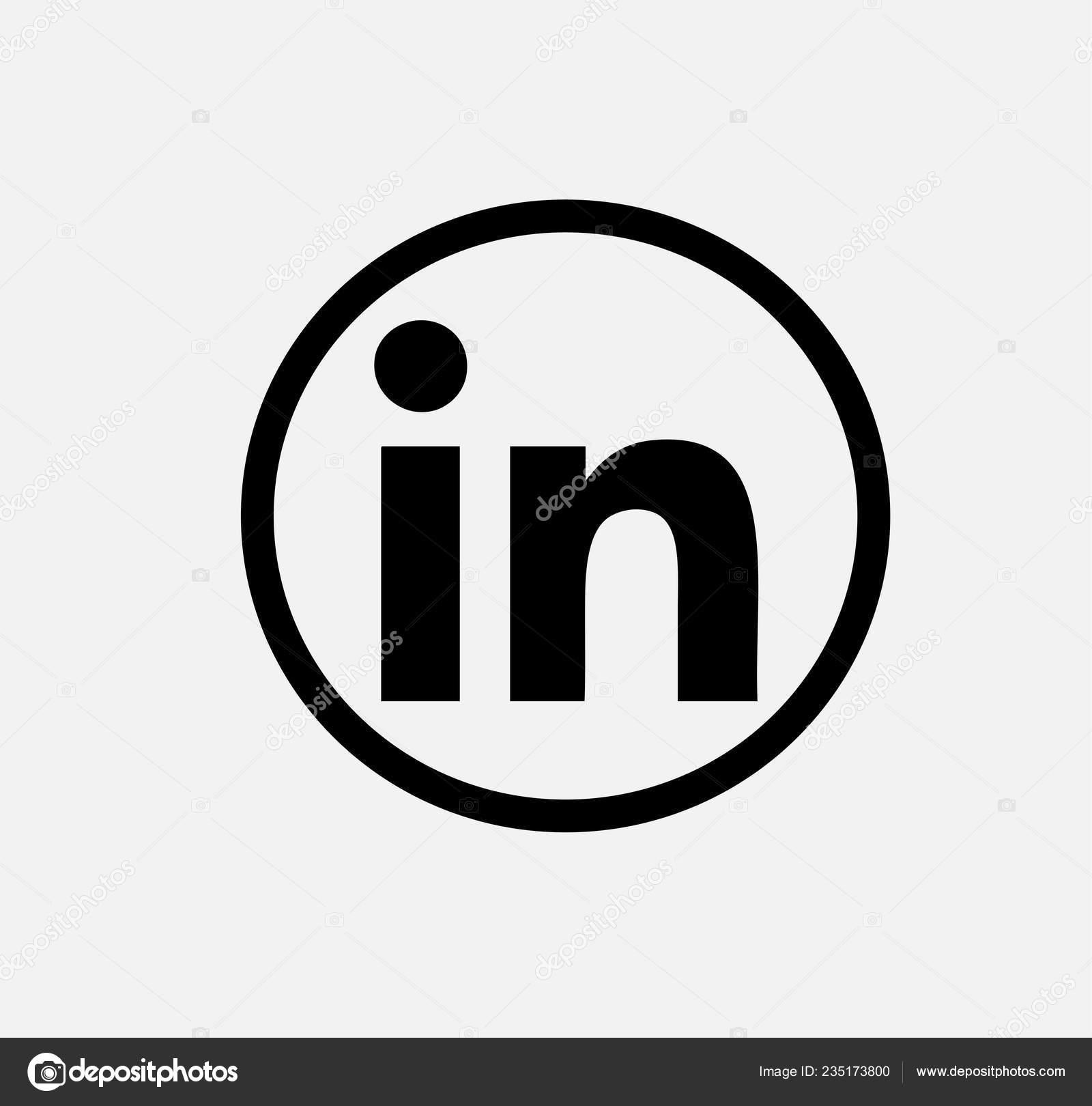 Black Vector Icon Linkedin Linkedin Button Linkedin Logo